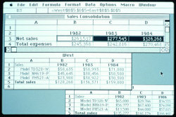 Excel 1.01 su Apple Macintosh